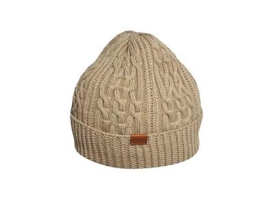 Kangol Aran Cable Pull On Beanie Khaki